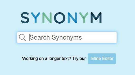 وب سایتی برای پیدا کردن هم معنی لغات انگلیسی